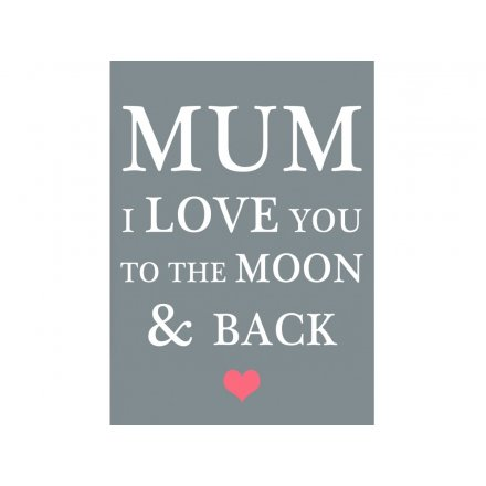 Mum Moon & Back Magnet