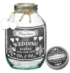 A Wedding Wishes Jar for the new Mr & Mrs