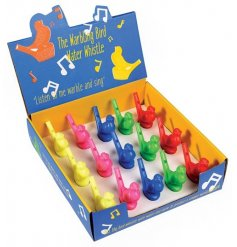 A fun and colourful assortment of bird themed whistles