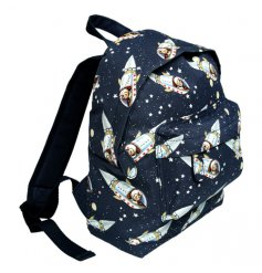 A fun and funky oilcloth mini backpack with a spaceboy design. Perfect for little ones on the go!