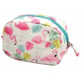 This fun flamingo themed oilcloth makeup bag is a stylish yet practical gift idea for any birthday
