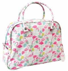 Flamingo Bag Weekend Bag  Go travelling in style with this fun flamingo themed weekend bag