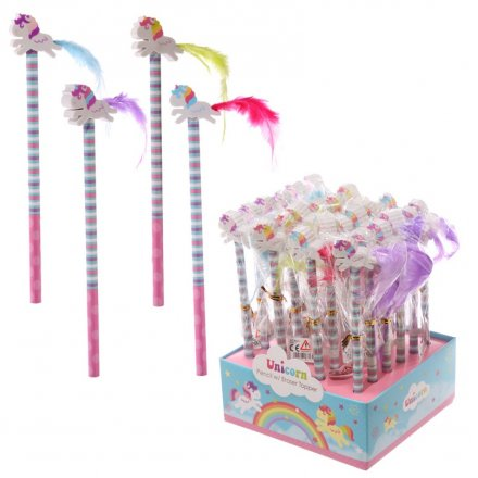 Fun and colourful unicorn themed pencils with a quirky eraser topper