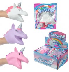 An assortment of 2 unicorn alive hand puppet