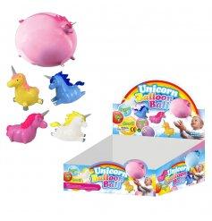 An assortment of 4 unicorn themed balloon balls