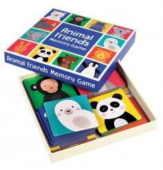 Animal Friends Memory Card Game