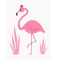 A fun and quirky Flamingo themed greetings card