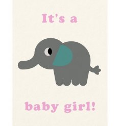 Its A Baby Girl Elephant Greeting Card