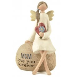 This resin based sitting angel figure is a perfect little gift to give to any loved mother