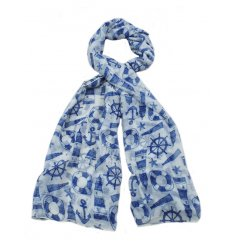 A stylish assortment of coastal themed scarves