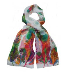A beautifully designed assortment of colourful scarves