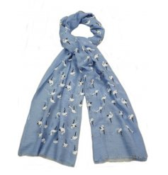 A beautiful assortment of stem patterned scarves