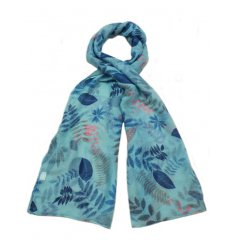 A stylish summery assortment of leaf themed scarves,
