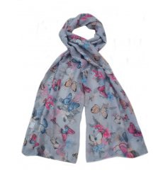 A sweet assortment of colourfully finsihed butterfly themed scarves,