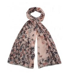 A sweet assortment of colourfully finished butterfly themed scarves,