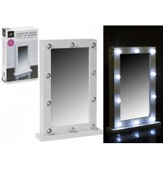 Get dolled up in style with this Hollywood inspired LED mirror