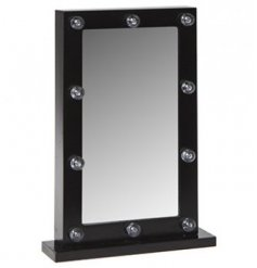 Never worry about foundation lines or missed creases again with this super stylish Hollywood LED mirror