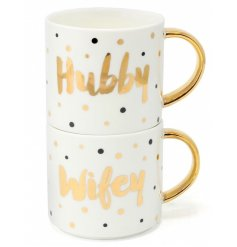This sweet set of stacking mugs will add a perfectly loved vibe into any kitchen