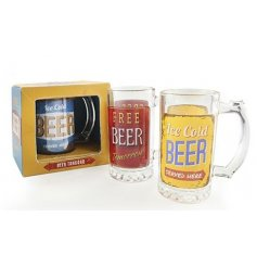 Drink an ice cold beer in style with this funky assortment of tankards