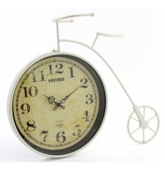 Bring home that rustic edge vibe with this stylish penny fathering themed clock