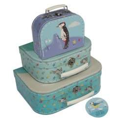 Set of 3 Garden Birds Suitcases