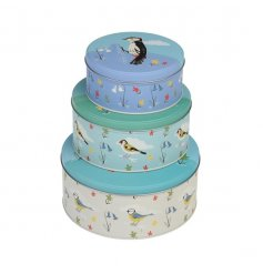 A set of 3 Garden birds nesting tins