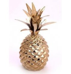 A gold pineapple ornament
