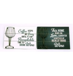 Add a chic twist to your kitchen or living spaces with these glam wooden plaques