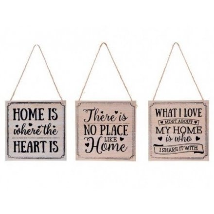 Wooden Homely Plaques