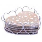 This cute set of heart shaped coasters will be the perfect addition to any cozy home