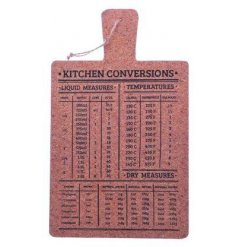 Never forget any conversions again with this quirky and home felt cork board