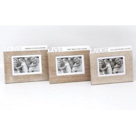 PH2125 / Wooden Live Laugh Love Frames | 36454 | Photo Frames ...