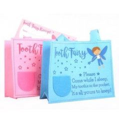 Hide your little ones fallen out teeth in these fun fairy styled bags and present them with a certificate from the toot