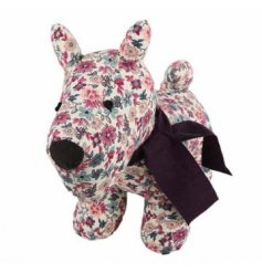 Add a cute shabby chic feel to any space with this cute floral themed doggy door stop