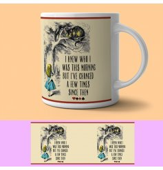 From the ever popular Alice in Wonderland books are these new printed mugs