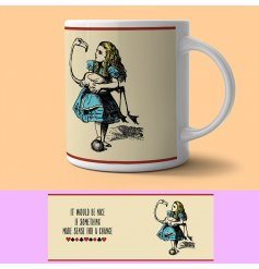 Bring a vintage charm feel to your hot drinks with these Alice in Wonderland themed mugs