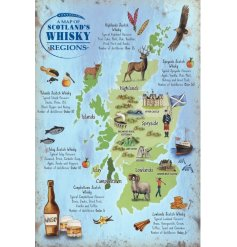 Always remember where the best locations for Whisky in Scotland is with this colourful hanging metal sign