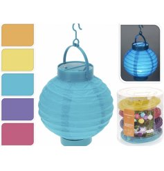 Add some groovy colour to any space of the home with these retro looking assorted colour paper lanterns