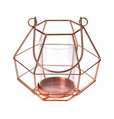add a modern luxe feel top any space with this stylish copper tlight holder
