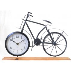 Add a vintage twist to any modern felt home with this chic bike styled clock