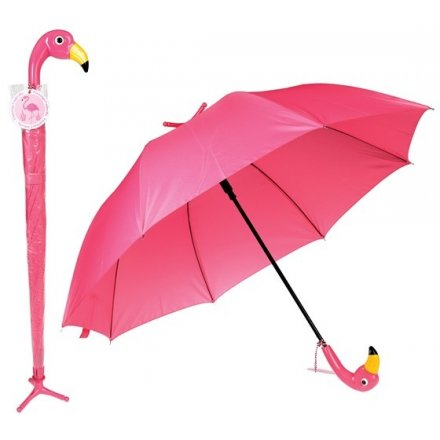 Flamingo Umbrella With Stand