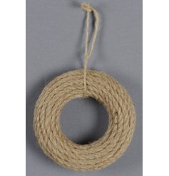 Add a chic vibe to any space with this simple jute string decal piece