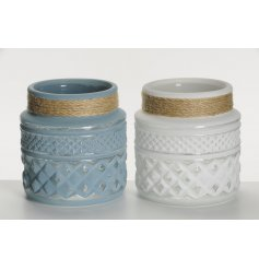 Add a distressed feel to any space with these assorted decorative jars