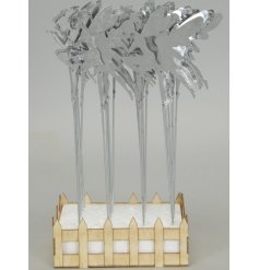 an assortment of two posed fairy figure stakes