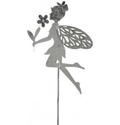 Garden Stake - Fairy  A dainty little posed fairy garden stake