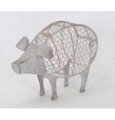 This sweet pig will bring a shabby chic feel to any kitchen