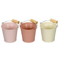 Tiny buckets in a pastel tone assortment