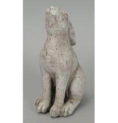 A sweetly gazing stone hare, complete with a distressed look