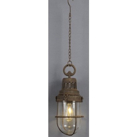 Distressed Hanging Attic Light