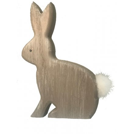 Add a sweet touch to your home with this chic wooden rabbit